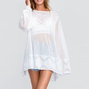 NWT Wildfox Taylor Tunic Sweater in White